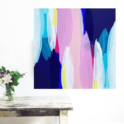 (CreativeWork) A Moment of Happiness by Maggi McDonald. Acrylic Paint. Shop online at Bluethumb.