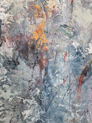 """(CreativeWork) Abstract """"Beneath the surface"""" by Alina Zorkina. Acrylic Paint. Shop online at Bluethumb."""