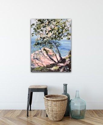 (CreativeWork) Noosa National Park II by Meredith Howse. Acrylic Paint. Shop online at Bluethumb.