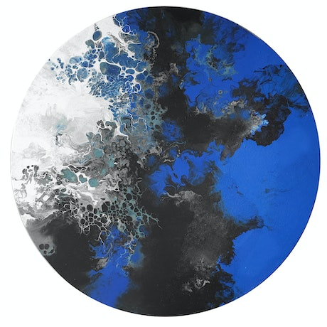 (CreativeWork) Neptune's World II by Brigitte Ackland. Acrylic Paint. Shop online at Bluethumb.