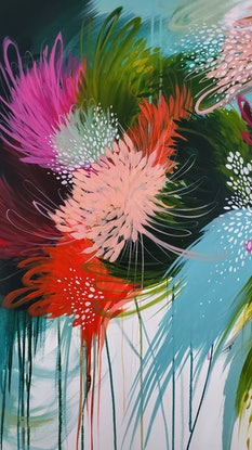 (CreativeWork) She Packs a Punch by Natalie Sarah Parker. Acrylic Paint. Shop online at Bluethumb.