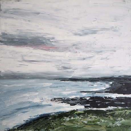 (CreativeWork) Headland by Michelle Keighley. Oil Paint. Shop online at Bluethumb.