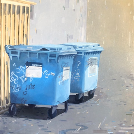 (CreativeWork) Trash by Luke Morgan. Oil Paint. Shop online at Bluethumb.