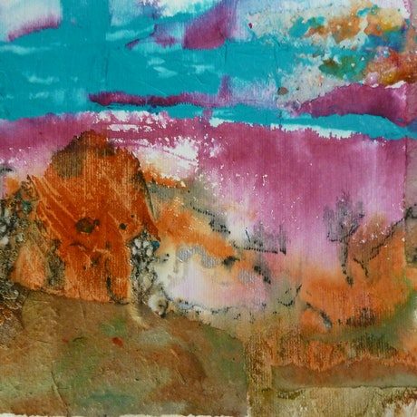 (CreativeWork) The Power of Nature - Spectacular Landscapes - Spinifex & Qld Bluegrass papers by Ruby Purple. Mixed Media. Shop online at Bluethumb.