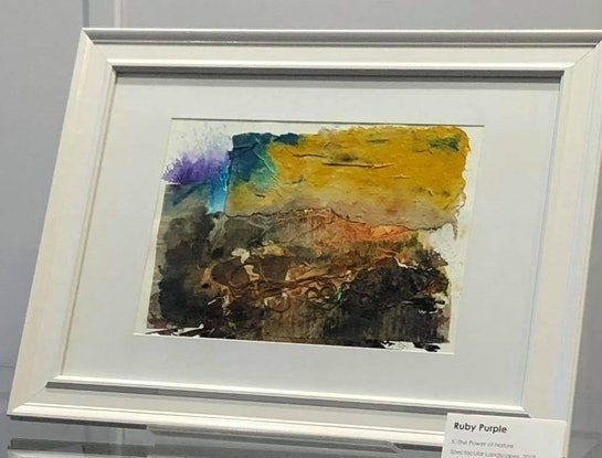 (CreativeWork) The Power of Nature - Spectacular Landscapes - Millet Grass  by Ruby Purple. Mixed Media. Shop online at Bluethumb.
