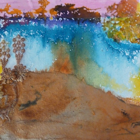 (CreativeWork) The Power of Nature - Spectacular Landscapes - Oat Grass by Ruby Purple. Mixed Media. Shop online at Bluethumb.
