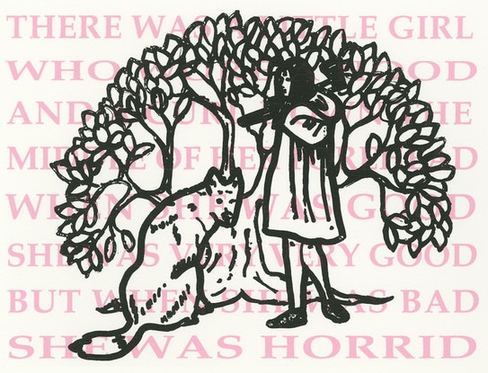 (CreativeWork) When She Was Bad (Girl with a Curl) Ed. 1 of 1 by Leah Mariani. Print. Shop online at Bluethumb.