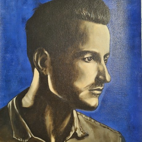 (CreativeWork) Sal by Kurt Engledow. Acrylic Paint. Shop online at Bluethumb.