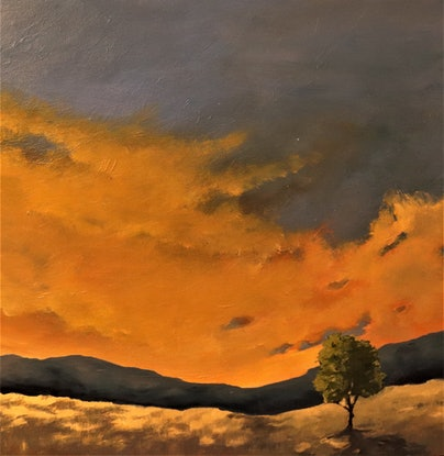 (CreativeWork) The glorious light by Carolyn Stephens. Acrylic Paint. Shop online at Bluethumb.