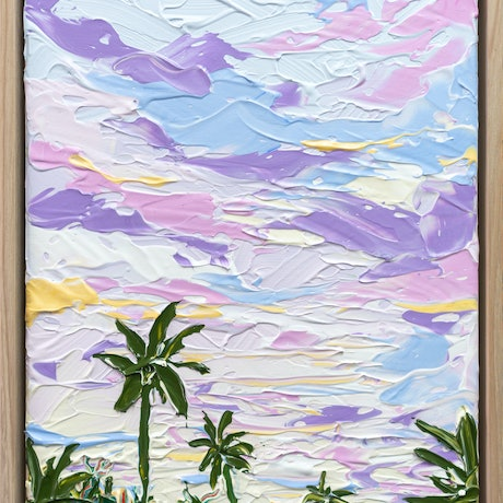 (CreativeWork) Tropical Sky - Framed by Joseph Villanueva. Acrylic Paint. Shop online at Bluethumb.