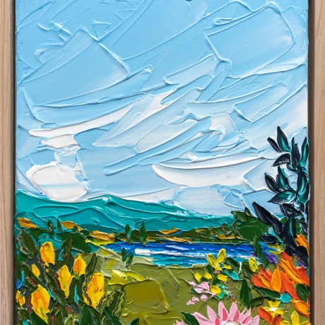 (CreativeWork) Piece of Paradise 3 - Framed by Joseph Villanueva. Acrylic Paint. Shop online at Bluethumb.
