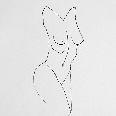 (CreativeWork) Female Figure  by Jasmine Radakovic. Drawings. Shop online at Bluethumb.