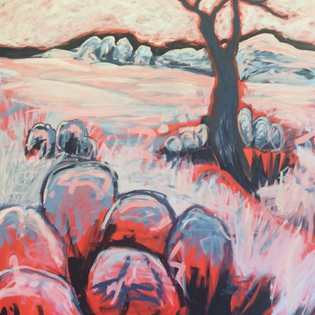 (CreativeWork) Essence of the Granite Belt by Diane McDonald. Acrylic Paint. Shop online at Bluethumb.