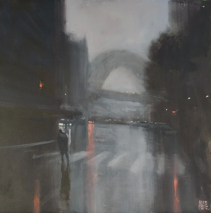 (CreativeWork) Harbour Mystery  - Sydney by Mike Barr. Oil Paint. Shop online at Bluethumb.