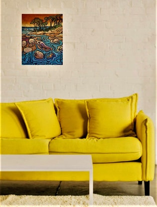 (CreativeWork) Postcards from Venus 7 by Wayne Smith. Acrylic Paint. Shop online at Bluethumb.