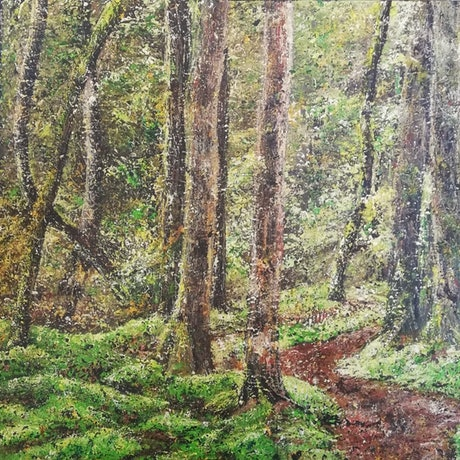 (CreativeWork) Path to Nowhere by Mel Wren. Acrylic Paint. Shop online at Bluethumb.