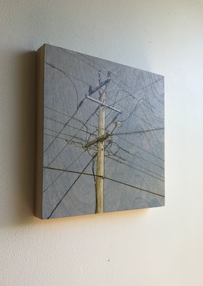 (CreativeWork) Power Lines 3 by Jane Grierson. Acrylic Paint. Shop online at Bluethumb.