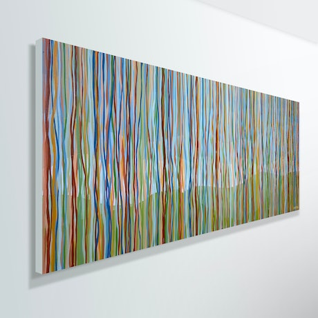 (CreativeWork) Currarong Yarrabee - 152 x 61cm acrylic on canvas by George Hall. Acrylic Paint. Shop online at Bluethumb.