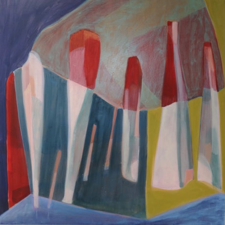 (CreativeWork) Architecture for unknown worlds by Paula Payne. Acrylic Paint. Shop online at Bluethumb.