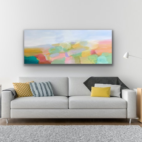 (CreativeWork) Misty Morning  by Theo Papathomas. Acrylic Paint. Shop online at Bluethumb.