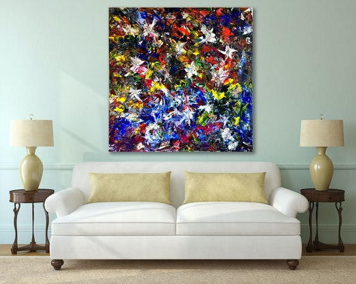 (CreativeWork) Time to flourish by Estelle Asmodelle. Acrylic Paint. Shop online at Bluethumb.