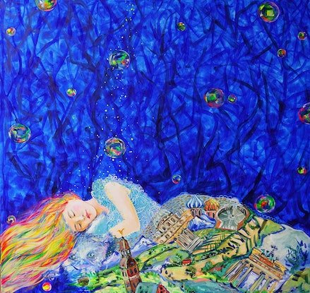 (CreativeWork) Dreams by Katerina Apale. Acrylic Paint. Shop online at Bluethumb.