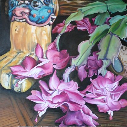 (CreativeWork) Still Life- oriental by Gaye Sutherland. Oil. Shop online at Bluethumb.