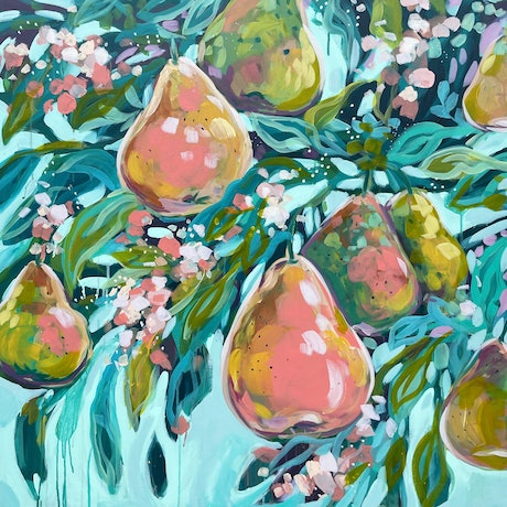 (CreativeWork) Lush by Clair Bremner. Acrylic. Shop online at Bluethumb.