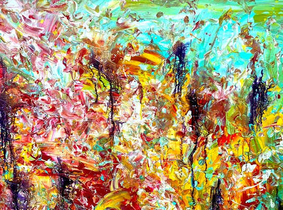(CreativeWork) Infusing Retrospection by Estelle Asmodelle. Acrylic Paint. Shop online at Bluethumb.
