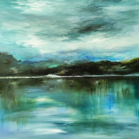 (CreativeWork) River Bliss by Alice Howell. Oil Paint. Shop online at Bluethumb.