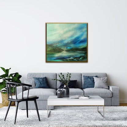 (CreativeWork) River Glide by Alice Howell. Oil Paint. Shop online at Bluethumb.