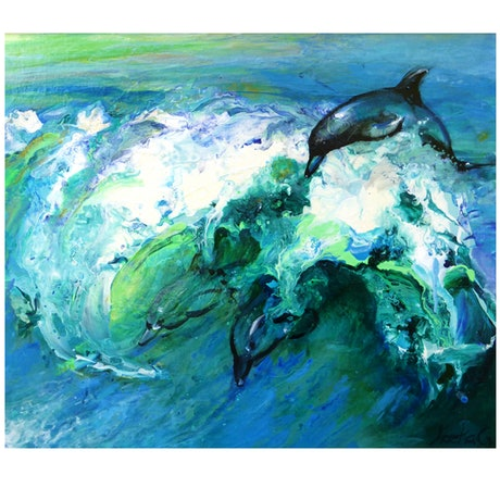 (CreativeWork) Wild and Free by Leeka Gruzdeff. Acrylic Paint. Shop online at Bluethumb.