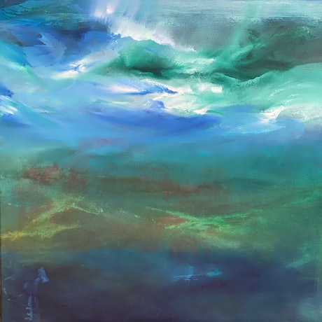 (CreativeWork) Undersea I by Joanne Duffy. Oil Paint. Shop online at Bluethumb.