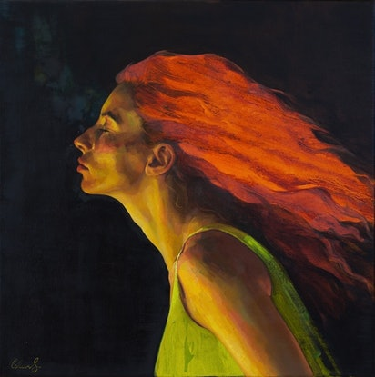 (CreativeWork) Headspace II  by Colleen Stapleton. Oil. Shop online at Bluethumb.