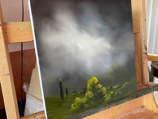(CreativeWork) Illuminated Night by Elaine Green. Oil Paint. Shop online at Bluethumb.