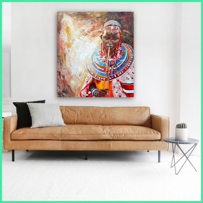 (CreativeWork) AFRICAN TRIBE by Alina Zorkina. Acrylic Paint. Shop online at Bluethumb.