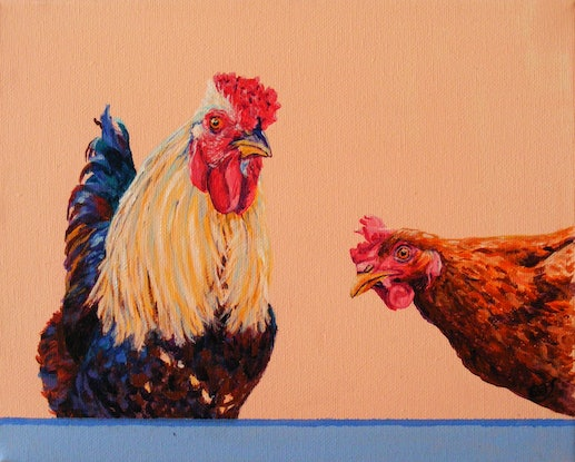 "(CreativeWork) ""FARM ANIMALS 25"" by Daniela Selir. Acrylic Paint. Shop online at Bluethumb."