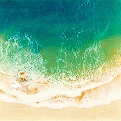 (CreativeWork) Ocean Resin Art - Peace Haven by Michelle Tracey. Resin. Shop online at Bluethumb.
