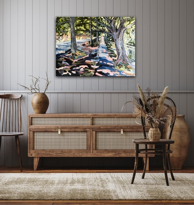 (CreativeWork) Glenlyon Drive Ashgrove - Brisbane by Meredith Howse. Acrylic Paint. Shop online at Bluethumb.