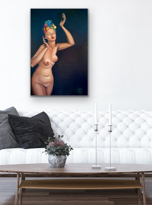 (CreativeWork) Herself by Daria Andrews. Oil Paint. Shop online at Bluethumb.