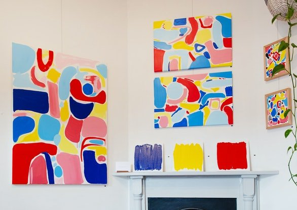 (CreativeWork) Count to Three II - 'Feeling Colours' Exhibition  by Ellen McKenna. Acrylic Paint. Shop online at Bluethumb.