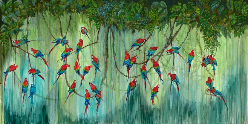 (CreativeWork) Vines of Hope by PRIYA GORE. Acrylic Paint. Shop online at Bluethumb.