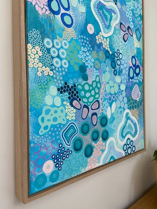 (CreativeWork) Rockpool by Kirsty Cargill. Mixed Media. Shop online at Bluethumb.