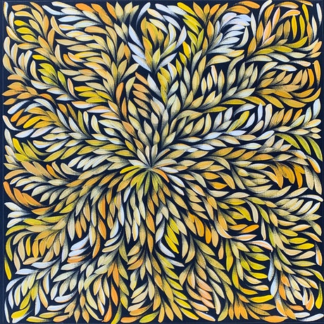 (CreativeWork) Bush Medicine Leaves - Yellow/ Orange (A) I by Louise Numina. Acrylic Paint. Shop online at Bluethumb.