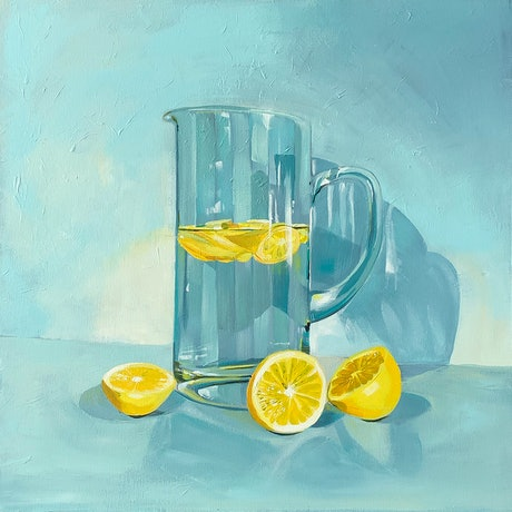 (CreativeWork) Aqua and Lemonades  - LIMITED EDITION GICLEE PRINT   Ed. 1 of 50 by Amy Herman. Print. Shop online at Bluethumb.
