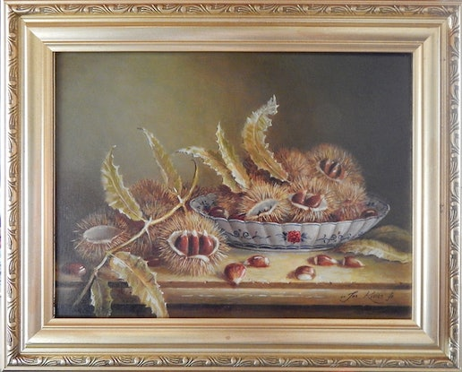 (CreativeWork) Bunch of Chestnuts by Jos Kivits. Oil Paint. Shop online at Bluethumb.