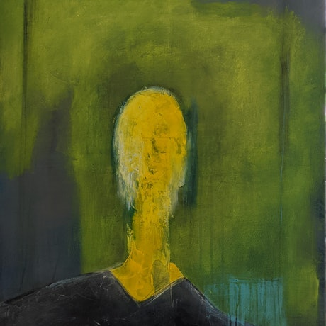 (CreativeWork) Trapped In Yellow by Davide DiCenso. Acrylic Paint. Shop online at Bluethumb.