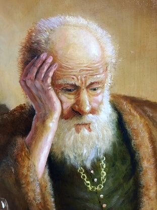 (CreativeWork) Contemplation by Jos Kivits. Oil Paint. Shop online at Bluethumb.