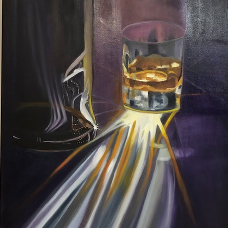(CreativeWork) Whisky Reflections  by Bernadette McConville. Oil Paint. Shop online at Bluethumb.