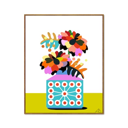 (CreativeWork) Still Life No 96 - Bloom Collection by Andria Beighton. Acrylic Paint. Shop online at Bluethumb.